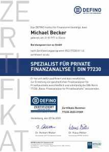 Michael Becker ist der zertifizierte DIN 77230 Berater in Aachen